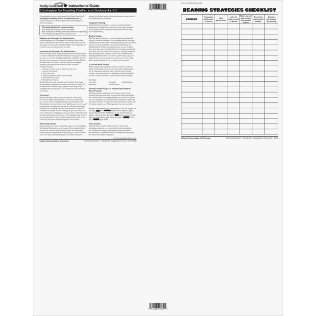 Strategies For Reading Poster - 1 poster