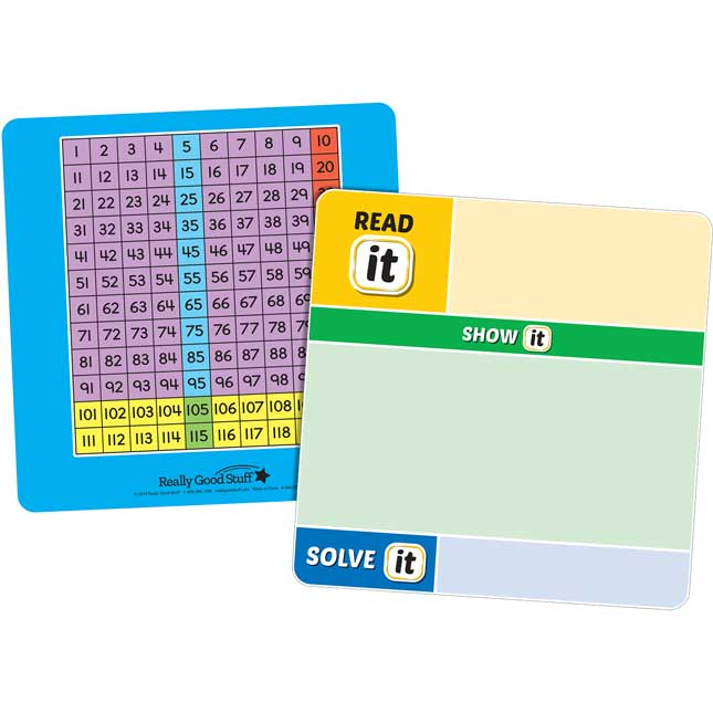Magnetic Read, Show, And Solve Math Boards With Addition And Subtraction Through 20 Word Problems Kit - 4 boards and 48 magnets