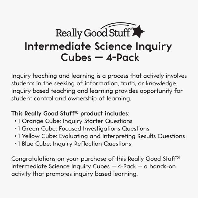 Intermediate Science Inquiry Cubes – 4-Pack_2