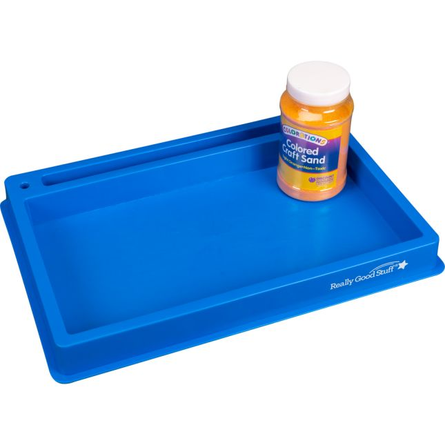 Plastic Sand Tray With Sand And Shape Formation Cards