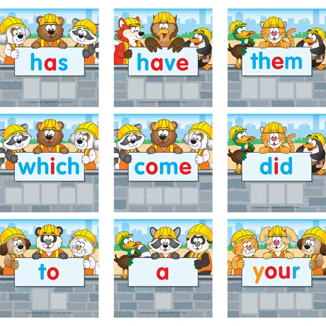 Sight Word Construction Activity - 1 game