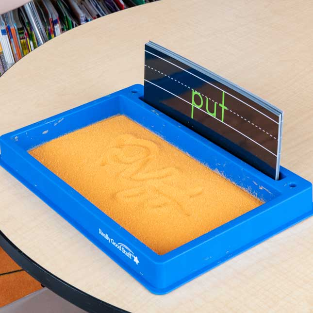 Plastic Sand Tray With Sand And Sight Word Formation Cards - Tray with sand and 50 cards