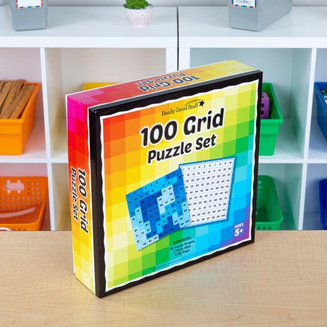 100 Grid Puzzle Set