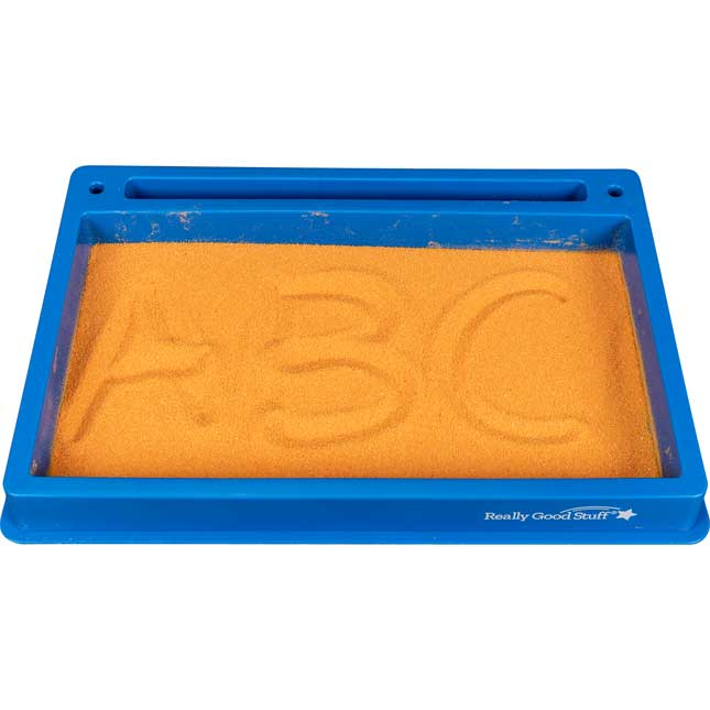 Plastic Sand Tray With Sand And Letter And Number Formation Cards - Tray with sand and 36 cards