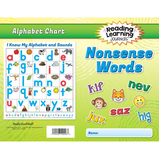 Reading Learning Journals™– Nonsense Words - 24 journals