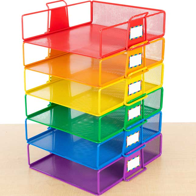Stackable Letter-Size Wire Rack™ - 6 Colors