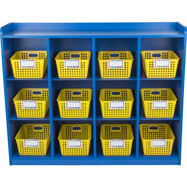 Really Good Classroom Cubby™ With Single-Color Baskets - 1 organizer, 12 baskets