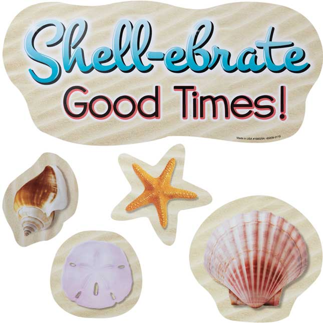 Let's Shell-ebrate EZ Stick™ Decals - 9 decals