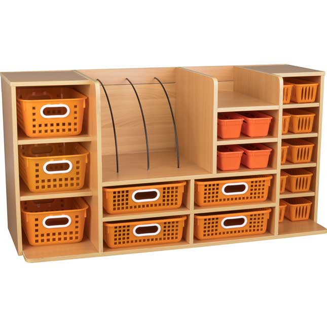 Deluxe Supplies Organizer With Single-Color Baskets