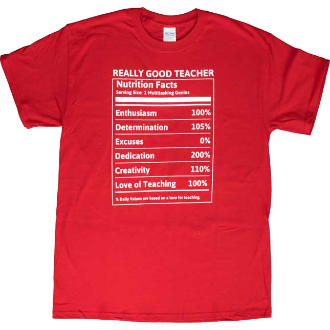 My Best Self Nutrition Fact T-Shirt - X Large