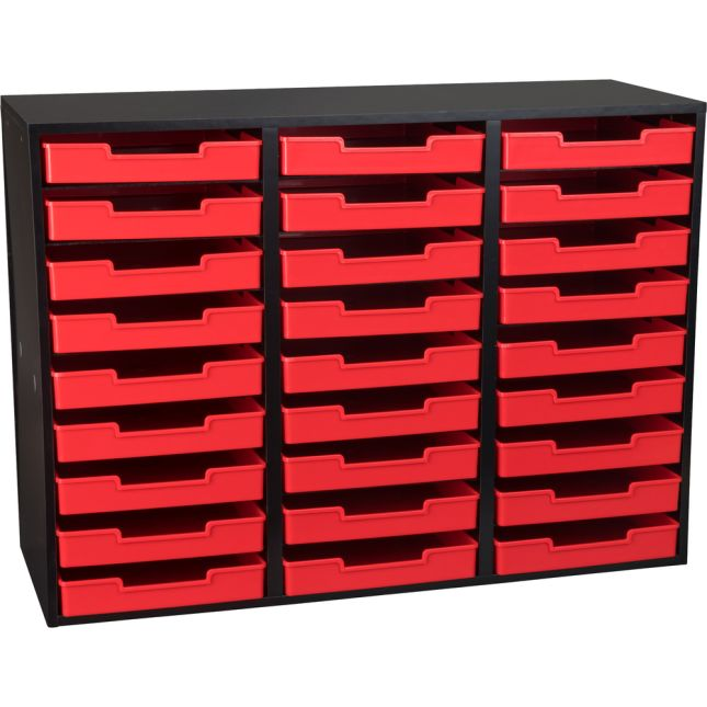 Black 27-Slot Mail Center With Trays - Single Color