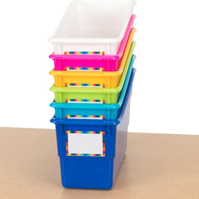 Durable Book and Binder Holders - Set Of 6 - Tropics_1