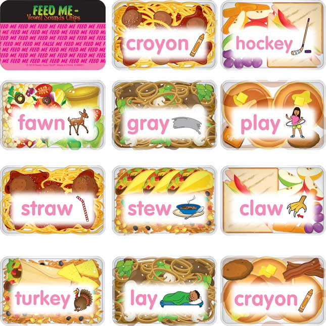 Feed Me – Vowel Sounds Chips - 100 chips