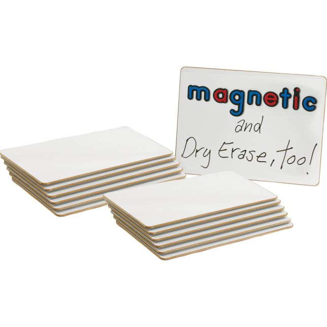 "12"" X 9"" Magnetic Dry Erase Boards - Set Of 12"