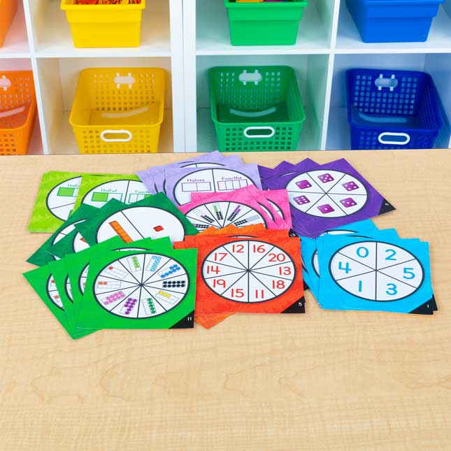 Spinner Sleeves With Primary Math Cards