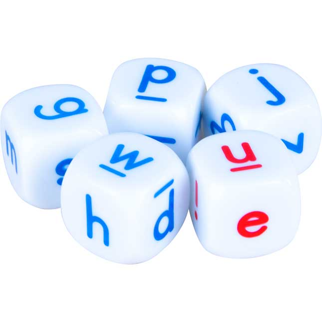 Lowercase Letter Dice - 5 dice_1