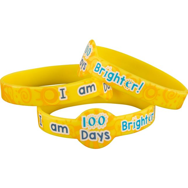 We Are 100 Days Brighter Silicone Bracelets