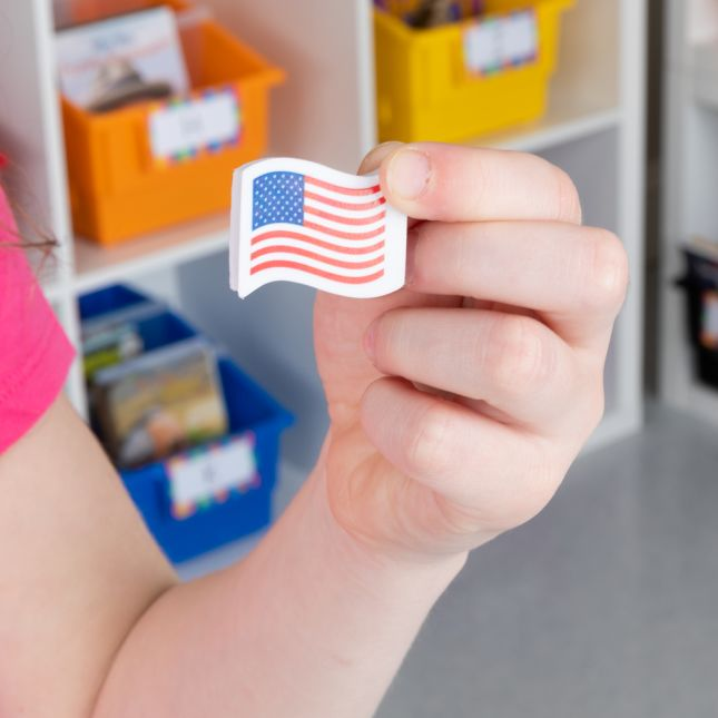American Flag Mini Erasers - Set Of 36