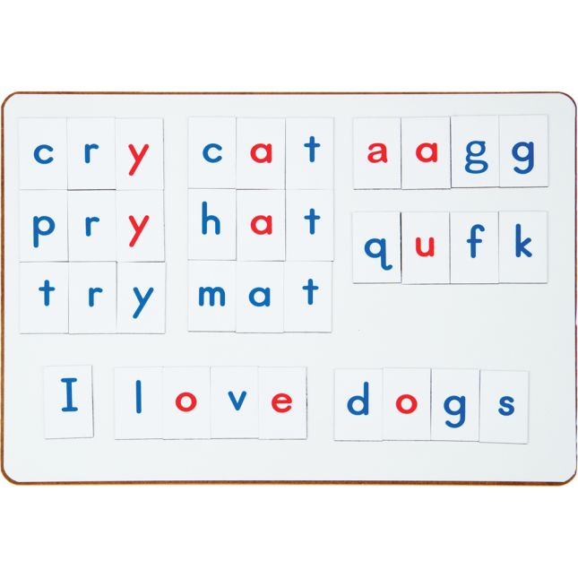 Magnetic Dry Erase Boards With Vinyl Magnetic Letters With Alphabet Storage Case - Small Group Pack