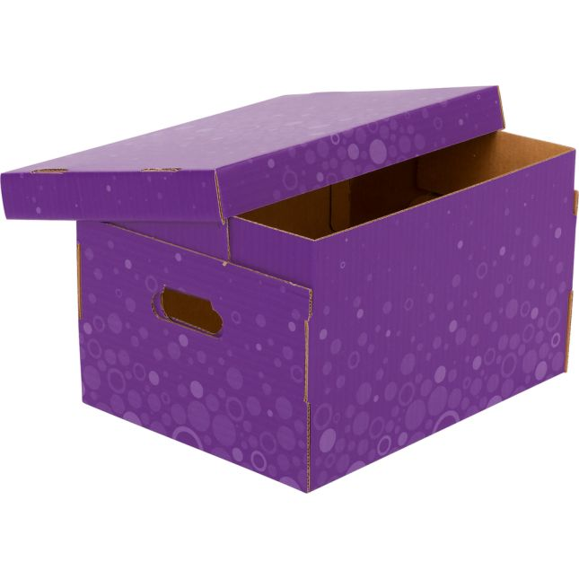 Corrugated Storage Box – Fizz! - Purple