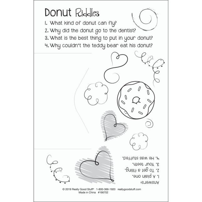 Donuts Valentine's Day Cards And Bracelets