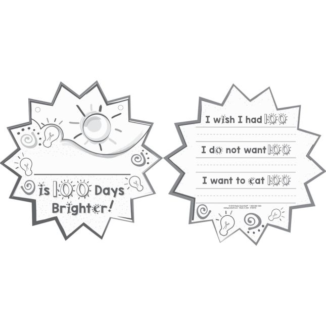 Ready-To-Decorate® We Are 100 Days Brighter Cards