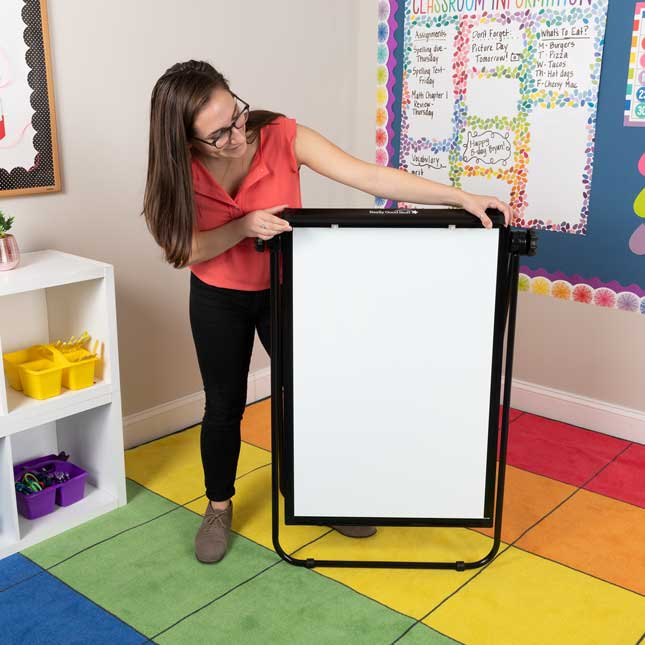 "Portable Magnetic Dry Erase Easel 35"" By 23"""