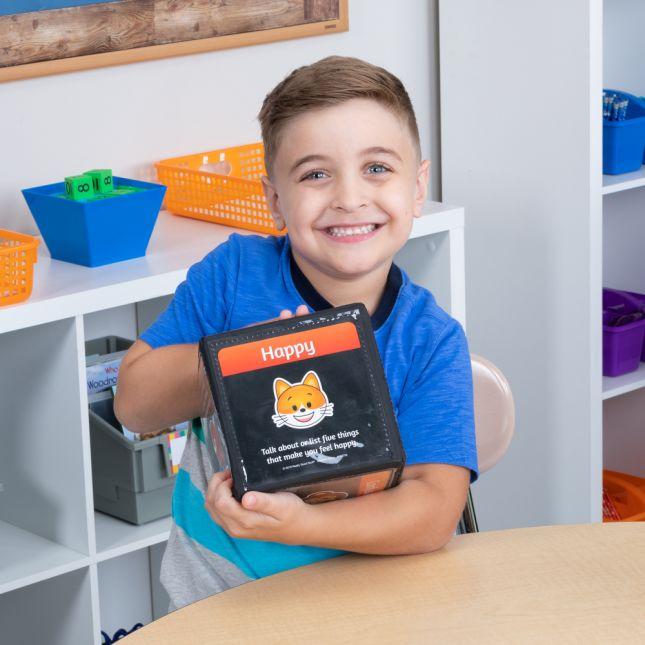 Emoji Feelings Cards And Cubes - Set of 12