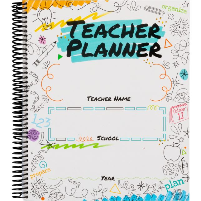 DIY Teacher Coloring Book Planner