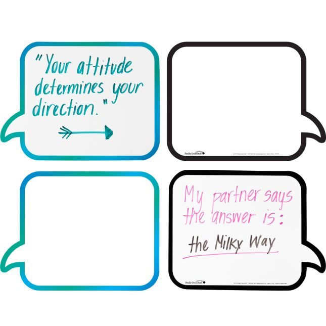 Shaped Dry Erase Boards – Speech And Thought Bubbles
