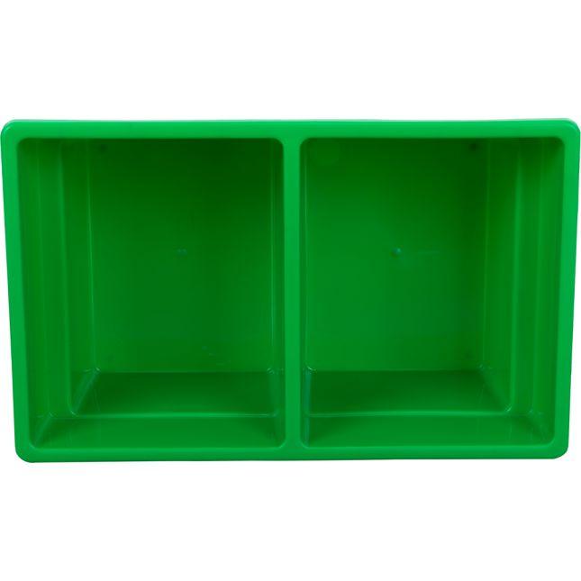 Two-Compartment All-Purpose Bin  Single - Green
