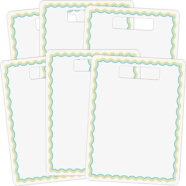 Dry Erase Boards With Handle – Set Of 6