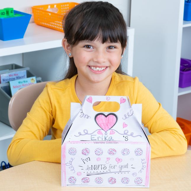Donuts Ready-To-Decorate® Valentine Holder - 12 boxes