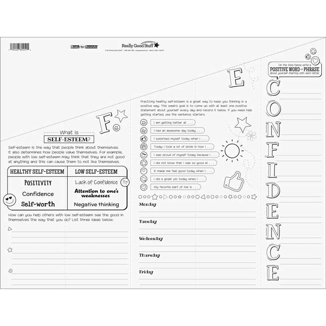 Ready-To-Decorate® Self-Esteem Foldable Posters – Intermediate - 24 posters