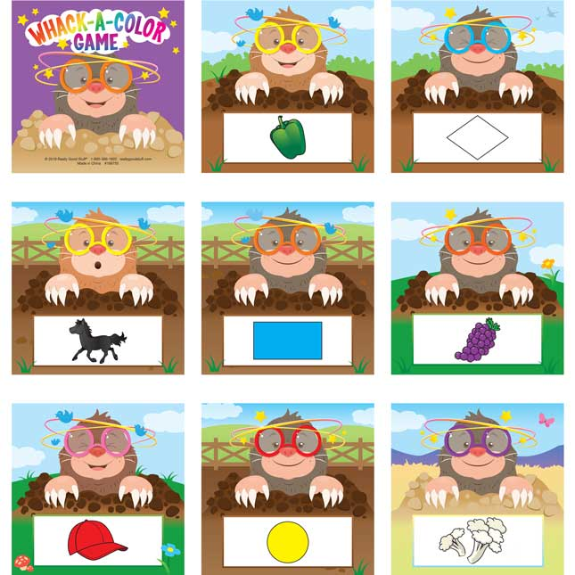 Whack-A-Color Game - Visual, Tactile and Auditory Learning for Fluency in Color Recognition - Pre-K, Kindergarten, 1st Grade - 1 game_6