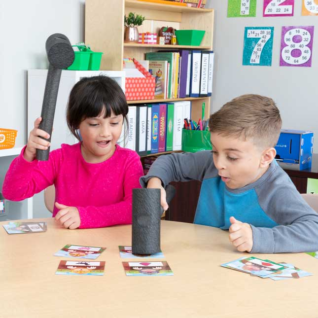 Whack-A-Color Game - Visual, Tactile and Auditory Learning for Fluency in Color Recognition - Pre-K, Kindergarten, 1st Grade - 1 game