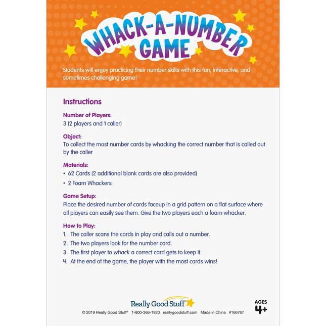 Whack-A-Number Game