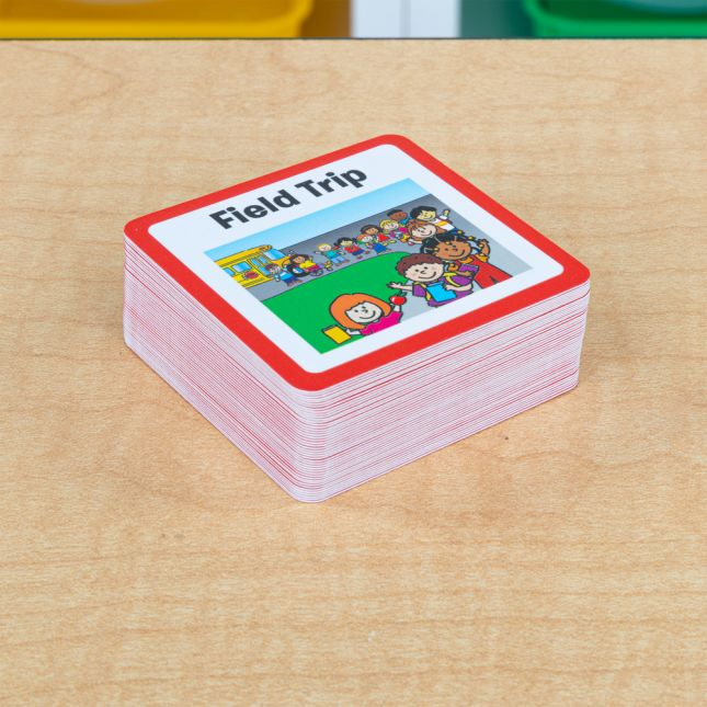 Individual Student Visual Schedule - 1 holder, 55 cards