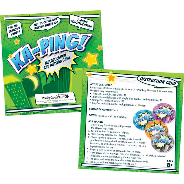 KA-PING! Multiplication And Division Game - 1 game_1
