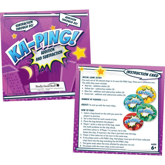 KA-PING! Addition and Subtraction Through 20 Game - 1 game