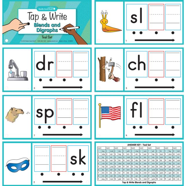 Tap & Write  Blends And Digraphs