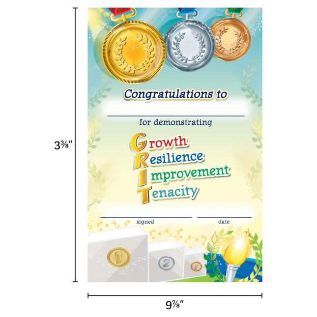 Got GRIT? Certificates  24 Pack