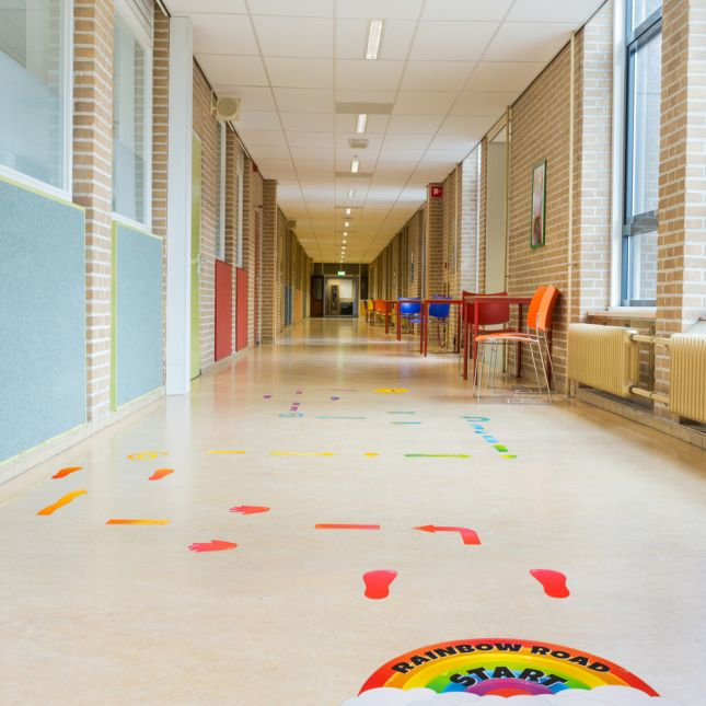 EZ Stick Sensory Path  Rainbow - 159 decals