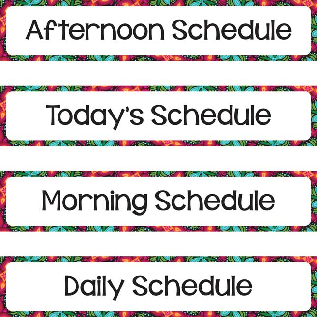Daily Schedule Pocket Chart and Cards - 1 pocket chart, 22 cards