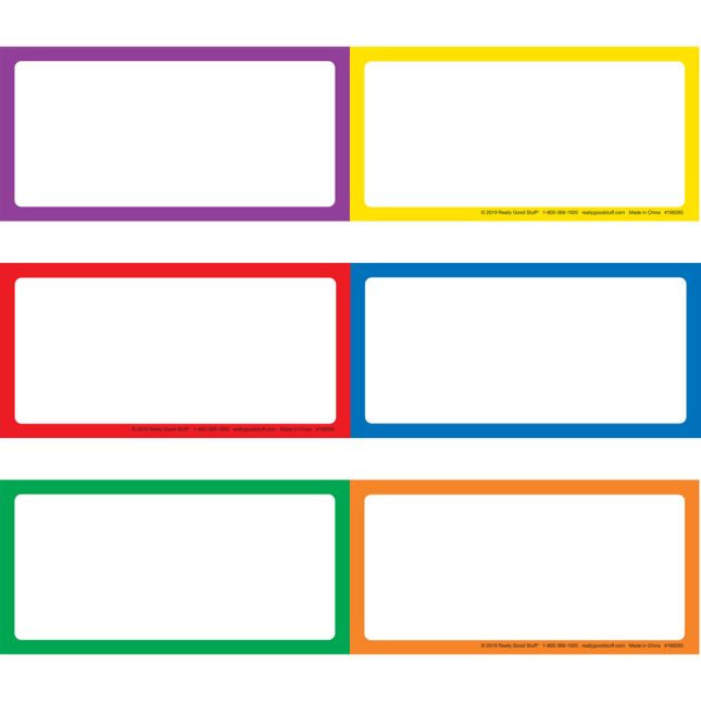 Programmable Pocket Chart & Cards  Rainbow  Medium Black - Black
