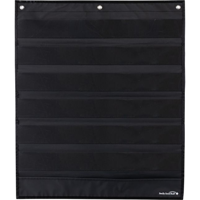 Programmable Pocket Chart & Cards  Waves  Medium Black - Black