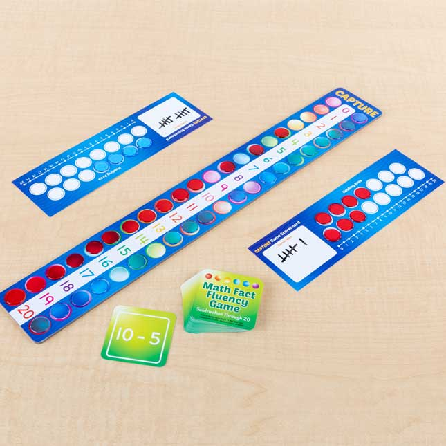 Math Fact Fluency Games  Addition and Subtraction Through 20 - 4 sets of games