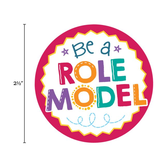 Be A Role Model Jumbo Stickers  36 Pack