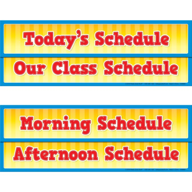 Whole-Class Visual Schedule Pocket Chart and Cards - 1 pocket chart, 27 cards