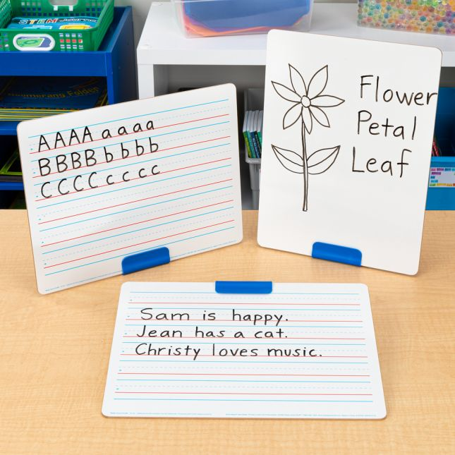 Slant And Stand Whiteboard Kit - 6 stands, 6 boards